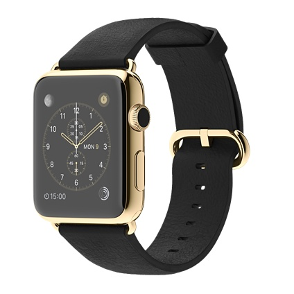 Apple Watch 42mm 18-Karat Yellow Gold Case with Black Classic Buckle